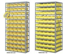 SHELF SYSTEMS WITH STORAGE BINS